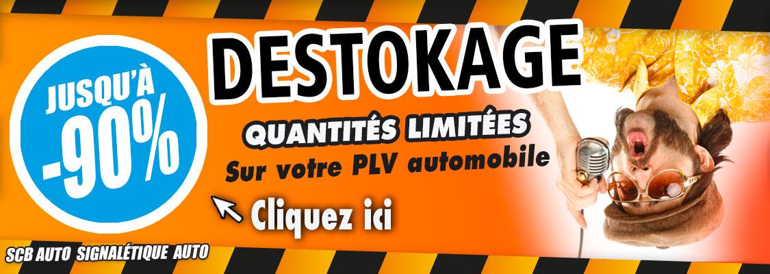 Plv Automobile pas cher et signalétique auto par scb auto